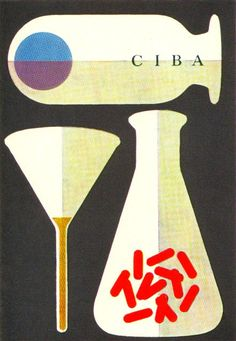 Chermayeff + Geismar Illustration - Cover of a booklet about career possibilities with the CIBA Company. From Graphis Annual 64/65