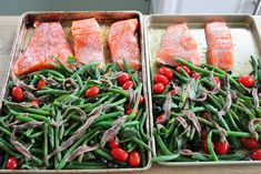 Eat Good 4 Life Jamie Oliver's tray baked salmon with veggies » Eat Good 4 Life