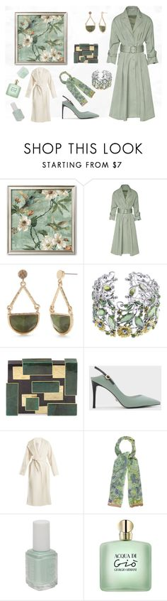 """""""Green lady"""" by ilarial1 on Polyvore featuring moda, New Directions, Rafe, CHARLES & KEITH, MaxMara, Etro, Essie e Aveda"""