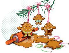 Mr Men & Little Miss in gingerbread