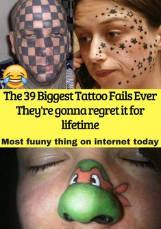 "In the wise words of Judge Judy, ""beauty fades, dumb is forever."" Enjoy this collection of thirty people who decided to immortalize their own shortcomings with the funniest tattoo fails that you will ever see Funniest Tattoos, Funny Tattoos Fails, Tattoo Fails, Judge Judy Meme, Terrible Tattoos, Laser Removal, Weird World, Big Tattoo, Dumb And Dumber"