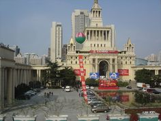 """The Shanghai International Exhibition Center, an example of Soviet neoclassical architecture in Shanghai"""