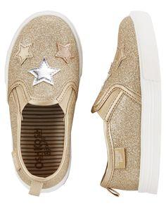OshKosh Metallic Star Slip-On Shoes