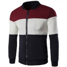 Cheap Men's Clothing, Buy Quality Sweaters and Cardigans directly from China Sweaters and Cardigans Suppliers: Men's Spring Baseball Collar British Style Color Splicing Patchwork Cotton Blend Jacket Bomber Jacket Men, Couture, British Style, Pulls, Fashion Brand, Men's Fashion, Fashion Coat, Baseball, Trendy Outfits