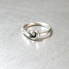 Oxidized Heart Knot Ring Sterling Silver from kellinsilver.com