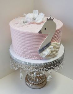 Swan Baby Shower Cake on Cake Central