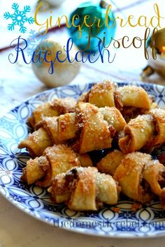 Gingerbread Biscoff Rugelach is an easy and impressive Christmas or Hanukkah cookie that starts with pie crust! No one will know your secret because these sweet and spicy cookies are positively scrumptious! #hanukkah #christmas #cookies