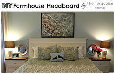 Diy headboard master bedroom update the turquoise home with wall decor ideas. Home Bedroom, Bedroom Wall, Bedroom Decor, Bedroom Ideas, Master Bedrooms, Design Bedroom, Bed Room, Master Suite, Murphy Beds