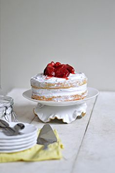 Eggless Strawberry and Cream Naked cake The one thing I like the most about winter season is STRAWBERRIES, This gorgeous looking fruit is very versatile – every year, I deepfreeze one big pa…