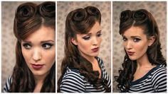 How I used to do my hair back in the day...The Freckled Fox : Sweetheart Hair Week: Tutorial #2 - Retro Victory Rolls