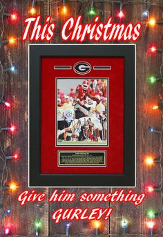 Custom Framed Autographed Todd Gurley Georgia Bulldogs 8x10 picture.  Will display nicely in any fan room, man cave or in any DAWGS House!  #ToddGurley #ManCaveDecor #GeorgiaBulldogs #GiftsforHim