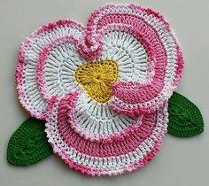 Crocheted flower doliy