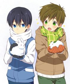 Soooo! Cute, Young Haru and Makoto from Free!