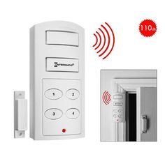 This Wireless Door Alarm with Programmable Keypad is one of the best door alarms with compact form, loud siren, programmable code and delayed entry and exit! Home Security Alarm, Home Security Tips, Wireless Home Security Systems, Security Solutions, Safety And Security, Security Camera, House Security, Security Door, Security Gadgets