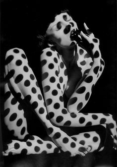 Dots -- Portrait - Black and White - Photography