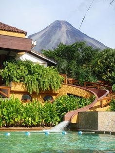 Tabacon Hot Springs and Arenal Volcano, Costa Rica (by sams).