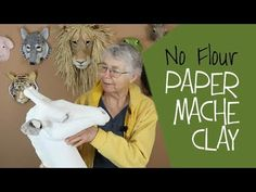 This paper mache clay recipe without flour will be. This paper mache clay recipe without flour will be helpful for paper mache sculptors who worry about critters being attracted to the flour in the original recipe. Paper Mache Diy, Paper Mache Paste, Making Paper Mache, Paper Mache Projects, Paper Mache Sculpture, Paper Mache Crafts For Kids, Clay Sculptures, Flour Crafts, Recipe Without Flour