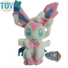 "Find More Movies & TV Information about New Poke XY Sylveon Sitting Pose Fairy Plush Doll Anime Cartoon Toy Peluche Juguetes Brinquedos Baby Dolls 8"" With Tag,High Quality dolls with black hair,China toy arena Suppliers, Cheap toy doll baby from Toys in the Kingdom on Aliexpress.com"