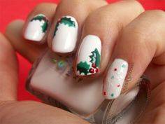 Holly Nails from http://polishcookies.blogspot.com