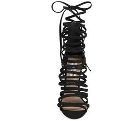 """""""Women's Steve Madden 'Drexel' Gladiator Sandal """" ($130) ❤ liked on Polyvore featuring shoes, sandals, heels, strap sandals, heeled sandals, gladiator sandals, greek gladiator sandals and strappy gladiator sandals"""