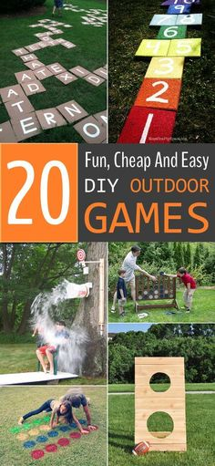 Rundup of extremely fun DIY outdoor games that are not just limited to kids. #outdoorideasparty