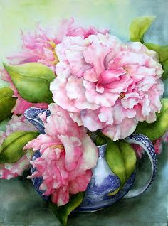 pam sackville on Pinterest | Tea Caddy, Watercolors and Anemones