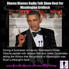 Add talk radio to the list of people to blame for his inability to lead this country properly
