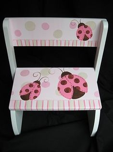 Chair Flip Step Stool Mod Ladybug Pink and Brown - 4 - 6 weeks??? DAMN IT!