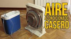 Aire acondicionado casero refrigerado por agua (Experimentos Caseros)