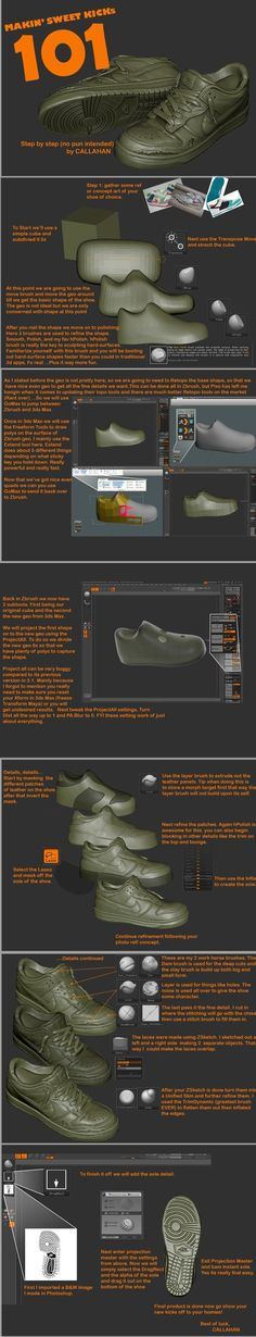 Shoes in ZBrush: