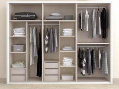 Idea distribución interior armario Closet Bedroom, Girls Bedroom, Master Bedroom, Bedroom Decor, Bedrooms, Wardrobe Design, Closet Designs, Walk In Closet, House Design