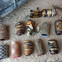 Items similar to We had a madcap, explosive, technicolor dream. We think it bled into our own lives because just look at us. Fabric bead mini on Etsy Paper Jewelry, Fabric Jewelry, Paper Beads, Jewelry Crafts, Beaded Jewelry, Jewelry Ideas, Dreadlock Beads, Dread Beads, Dreadlocks