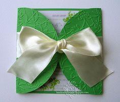 Green and White Summer Wedding Invitations (Invitatii alb si verde pentru o nunta de vara) - Handmade by Meda