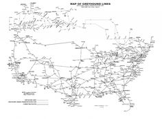 greyhound bus route - Google Search | Dirt Road: Other Research ...