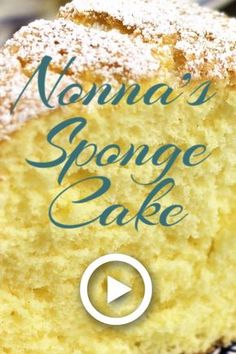 Nonna s sponge cake by mangia bedda this easy recipe has that perfect lemony fluffy and airy cake that most italian nonnas make to perfection! pin made by getsnackable com cake dessert soft chocolate chip cookies Easy Vanilla Cake Recipe From Scratch, Cake Recipes From Scratch, Easy Cake Recipes, Baking Recipes, Dessert Recipes, Vanilla Chiffon Cake Recipe, Lemon Chiffon Cake, Moist Vanilla Cake, Eggless Recipes