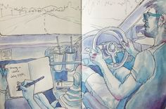 Driving through Idaho, on the way to Seattle. http://jessehorneart.tumblr.com