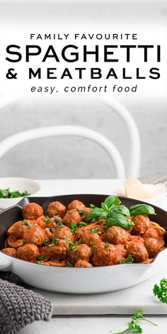 Spaghetti and Meatballs – Eat, Little Bird Pasta Dishes, Food Dishes, Main Dishes, Meat Recipes, Healthy Recipes, Meatball Recipes, Pasta Recipes, Easy Dinner Recipes, Easy Meals
