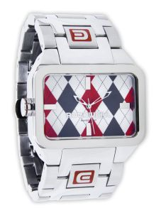 The Duel Time - Argyle/Red rockwell watch so sexy