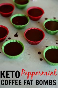 Keto Peppermint Coffee Fat Bombs Recipe. You're gonna love this one! It's perfect for the holidays. Fat bomb with ghee, coconut oil, peppermint, and stevia. This fat bomb recipe is made for the keto diet. This is perfect for coffee lovers. | ketosizeme.com  #NinjaBarista, #IC, and #ad @ninjacoffeebar