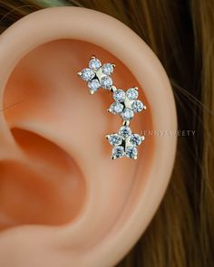 cartilage earring cartilage piercing cartilage stud by JennySweety