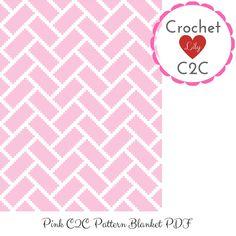 C2c Crochet Blanket, Graph Crochet, Crochet Blanket Patterns, Baby Patterns, Crochet Stitches, Pink Blanket, Baby Blocks, Baby Girl Blankets, Corner