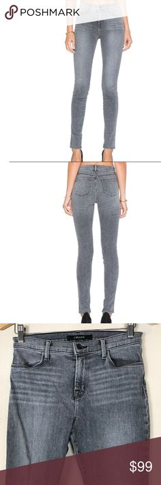 "[J Brand] 27 Maria High Rise Skinny in Dove Grey Soft, high-rise J Brand skinny jeans. Slant front pockets and patch back pockets. Single-button closure and zip fly. Size 27 Measures approx laying flat: 15"" waist 10"" rise 39"" long 28.5"" inseam J Brand Jeans Skinny"