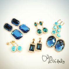 「BLUE PIERCE #accessory #pierce #blue #old #onlylovedaily」