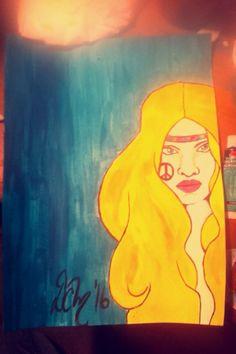 #painting #acrylic #art #hippie Acrylic Art, Disney Characters, Fictional Characters, Aurora Sleeping Beauty, My Arts, Disney Princess, Painting, Painting Art, Paintings