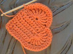 Corazón en ganchillo con patrón   -   Crochet Heart Pattern