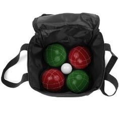 Trademark Games 9 Piece Bocce Ball Set with Easy Carry Nylon Case