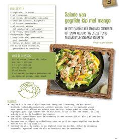 Salade van gegrilde kip met mango