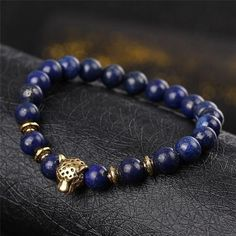 Beaded lava stone bracelet for men. Beaded bracelets are great looking and trendy this year. High quality natural stones used.