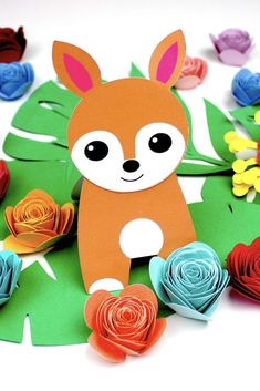 Deer Puppet – Make Film Play Paper Animal Crafts, Sea Animal Crafts, Animal Crafts For Kids, Crafts For Kids To Make, Craft Activities For Kids, Paper Crafts, Kids Crafts, Craft Projects, Puppet Making
