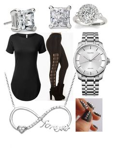 """""""Untitled #63"""" by kaay-kay ❤ liked on Polyvore featuring Blue Nile, Calvin Klein, La Preciosa, Allurez, women's clothing, women, female, woman, misses and juniors"""